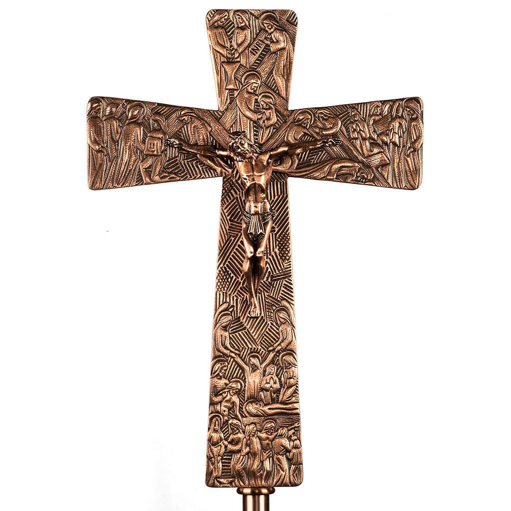Cruz procesional en bronce imágenes Vía Crucis 4