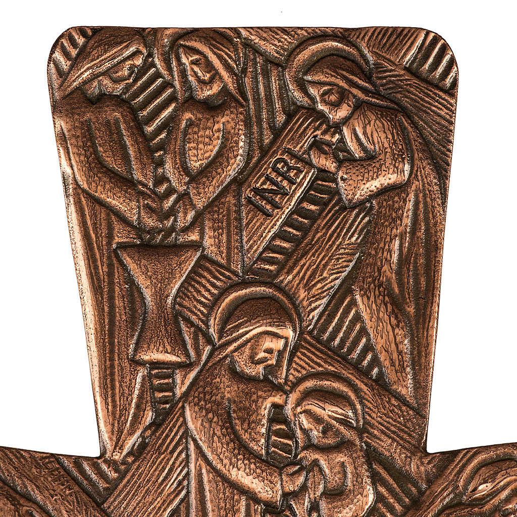 Croce astile in bronzo immagini Via Crucis 4