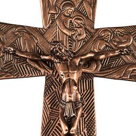 Croce astile in bronzo immagini Via Crucis s2