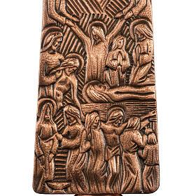 Croce astile in bronzo immagini Via Crucis s6