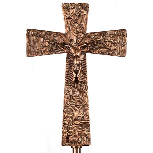 Croce astile in bronzo immagini Via Crucis 1