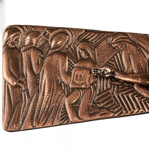 Croce astile in bronzo immagini Via Crucis 5