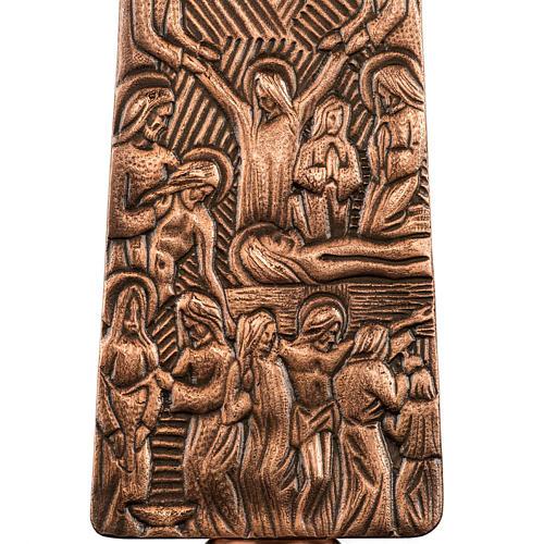 Croce astile in bronzo immagini Via Crucis 6