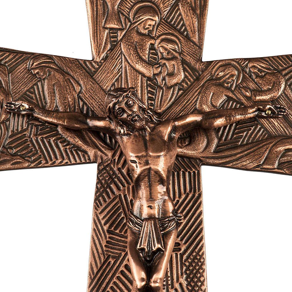 Krzyż procesyjny z brązu wizerunki Drogi Krzyżowej 4