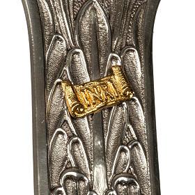 Cruz procesional bronce plateado cuerpo dorado s3
