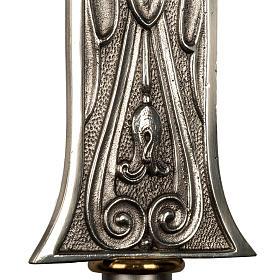 Cruz procesional bronce plateado cuerpo dorado s4
