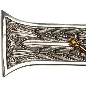 Cruz procesional bronce plateado cuerpo dorado s5