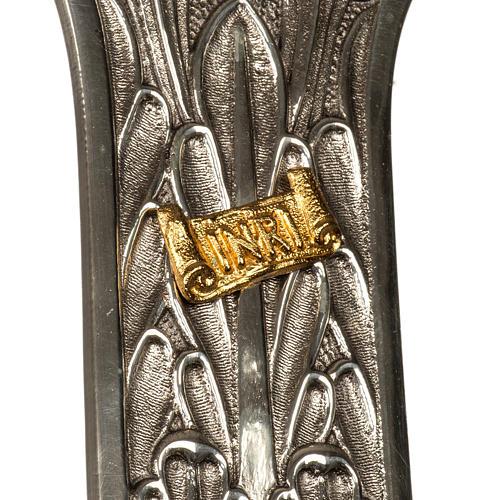 Cruz procesional bronce plateado cuerpo dorado 3