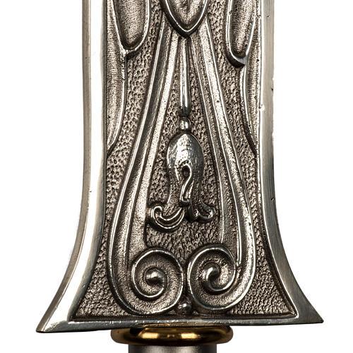 Cruz procesional bronce plateado cuerpo dorado 4