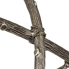 Cruz procesional en bronce plateado s7