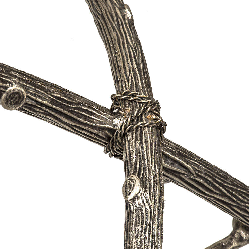 Croce astile pastorale in bronzo argentato 4