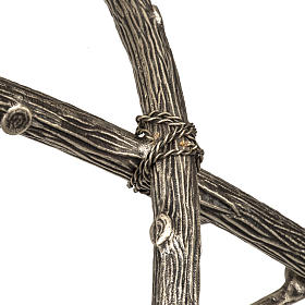 Croce astile pastorale in bronzo argentato s7