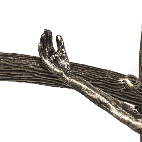 Croce astile pastorale in bronzo argentato 5