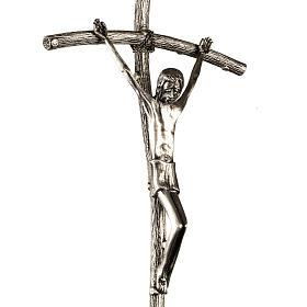 Croce astile Pastorale di Giovanni Paolo II in bronzo s2