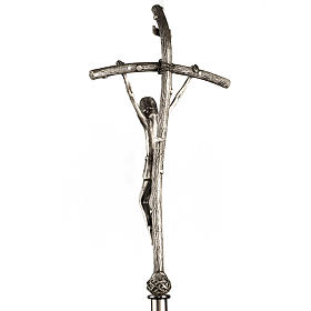 Croce astile Pastorale di Giovanni Paolo II in bronzo s5