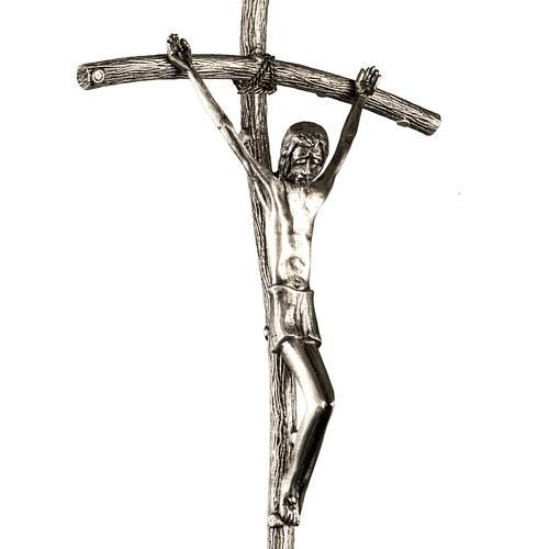 Croce astile Pastorale di Giovanni Paolo II in bronzo 2