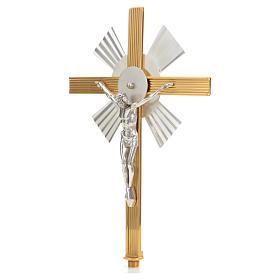 Cruz procesional rayos bicolor s2