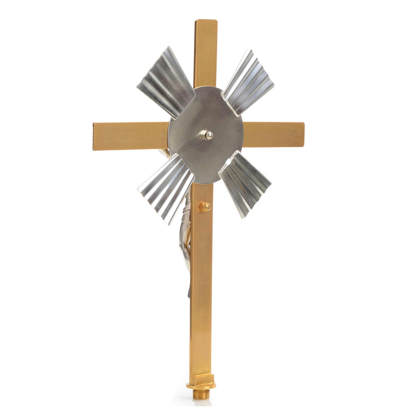 Croce astile raggiera bicolore 4