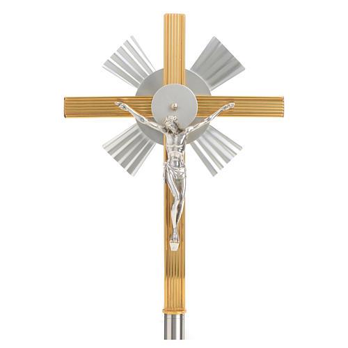 Croce astile raggiera bicolore 1