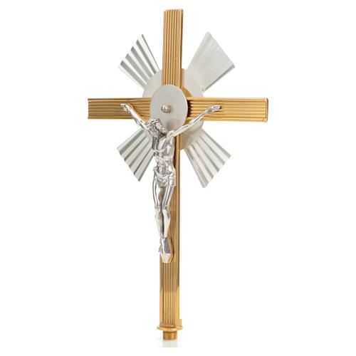 Croce astile raggiera bicolore 2
