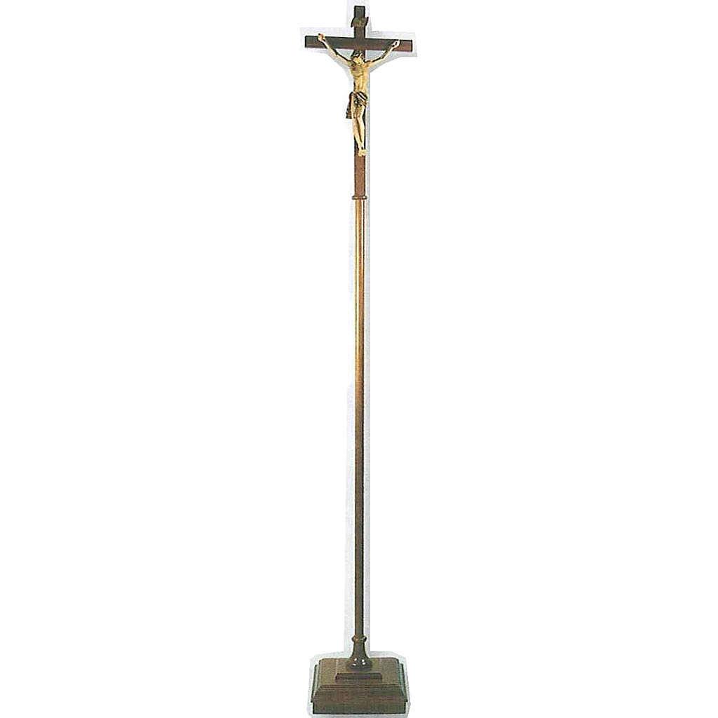 Croix de procession bois h 180 cm avec base 4