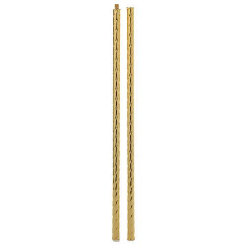 Cruz procesional barroca de latón bicolor 63x35 cm 8