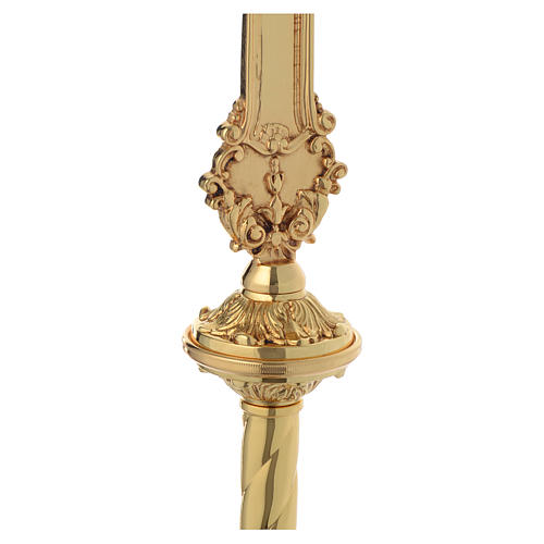 Croce astile barocca ottone bicolore 63x35 cm 5