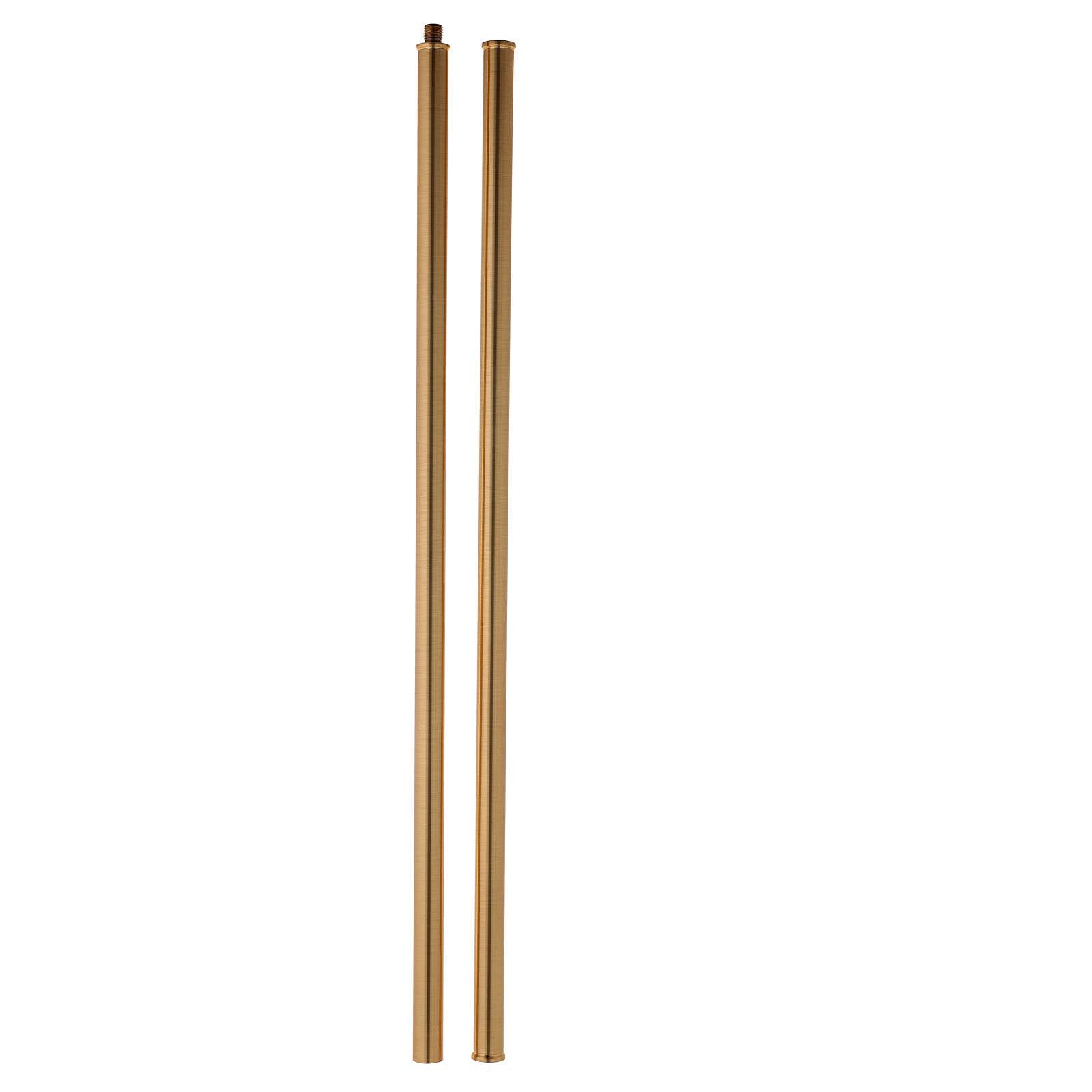 Cruz procesional de latón fundido 58x37 cm 4