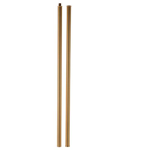 Cruz procesional de latón fundido 58x37 cm 8
