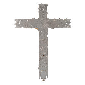 Croix procession laiton argenté 41x31 cm s3