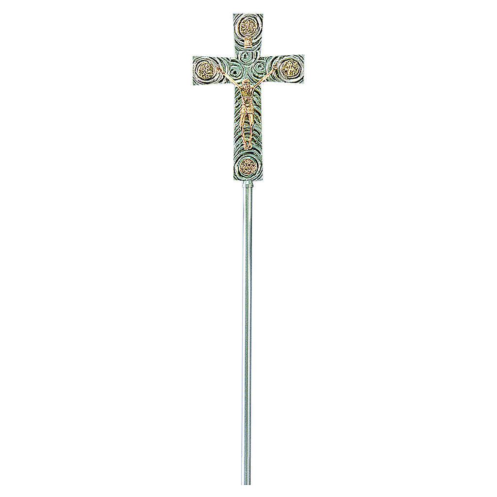 Croix pour procession en laiton avec évangélistes 46x30 cm 4