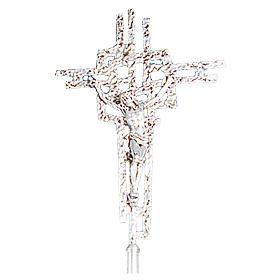 Krzyż procesyjny z odlewu mosiądzu 51x35 cm s1