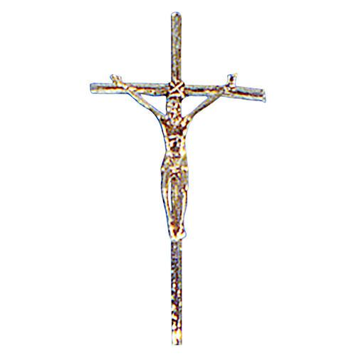 Croce astile ottone fuso oro 48x24 cm 1