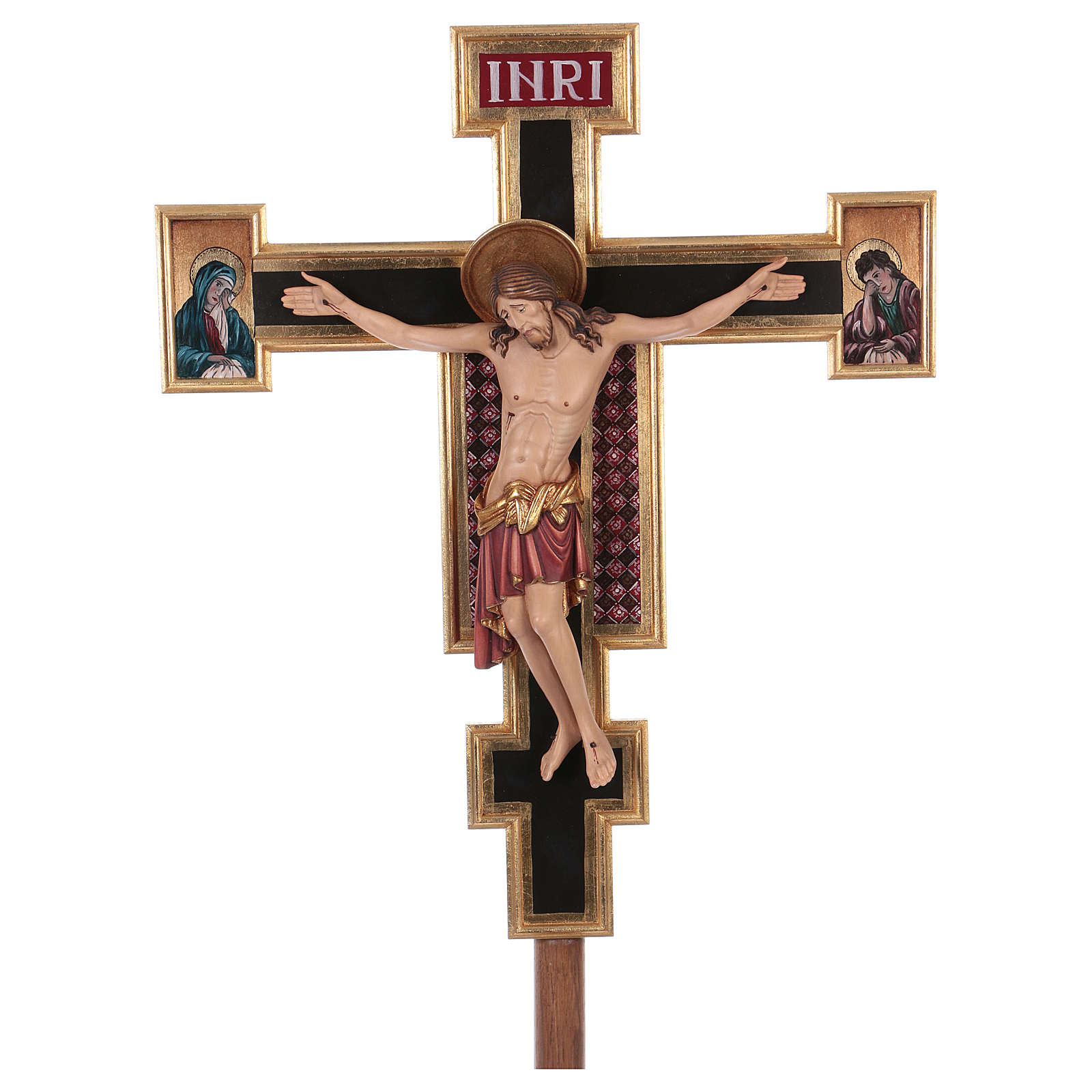 Processional coloured cross Cimabue 221 cm 4