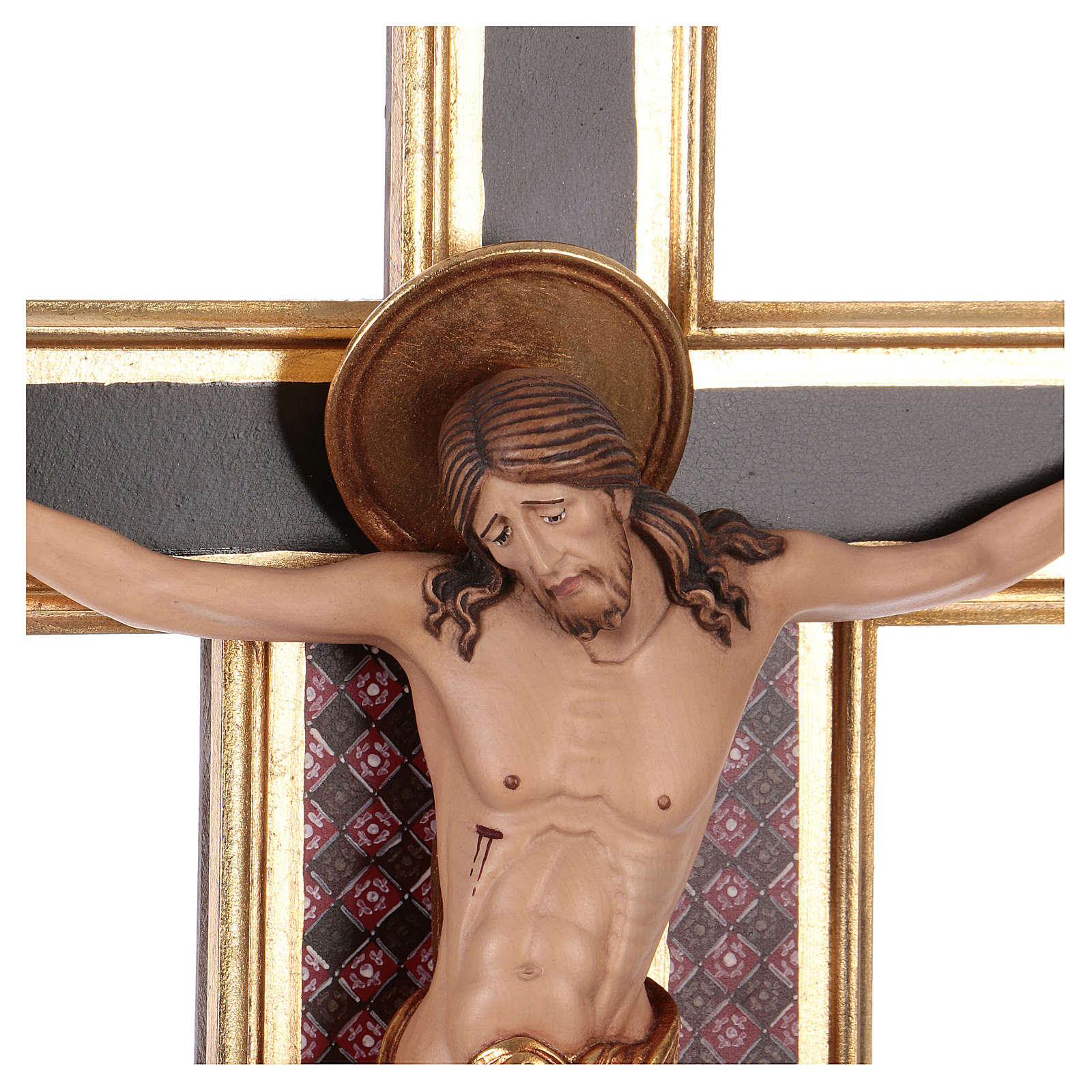 Croce processionale astile Cimabue colorata 221 cm 4
