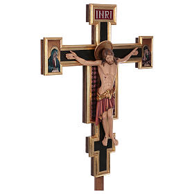Croce processionale astile Cimabue colorata 221 cm s4