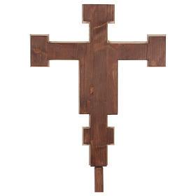 Croce processionale astile Cimabue colorata 221 cm s6