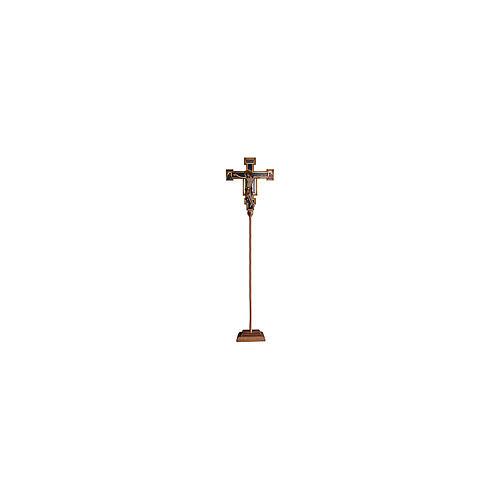 Croce processionale astile Cimabue colorata 221 cm 1