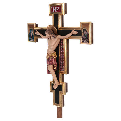 Croce processionale astile Cimabue colorata 221 cm 3