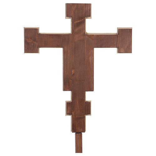 Croce processionale astile Cimabue colorata 221 cm 6