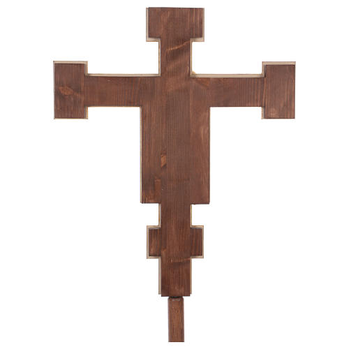 Processional coloured cross Cimabue 221 cm 6