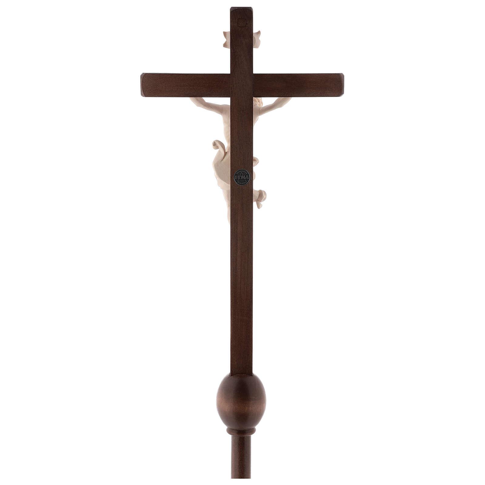 Cruz processional Leonardo madeira natural 4