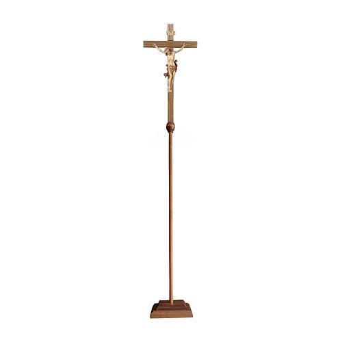 Cruz de procesión Leonardo bruñido 3 colores 1