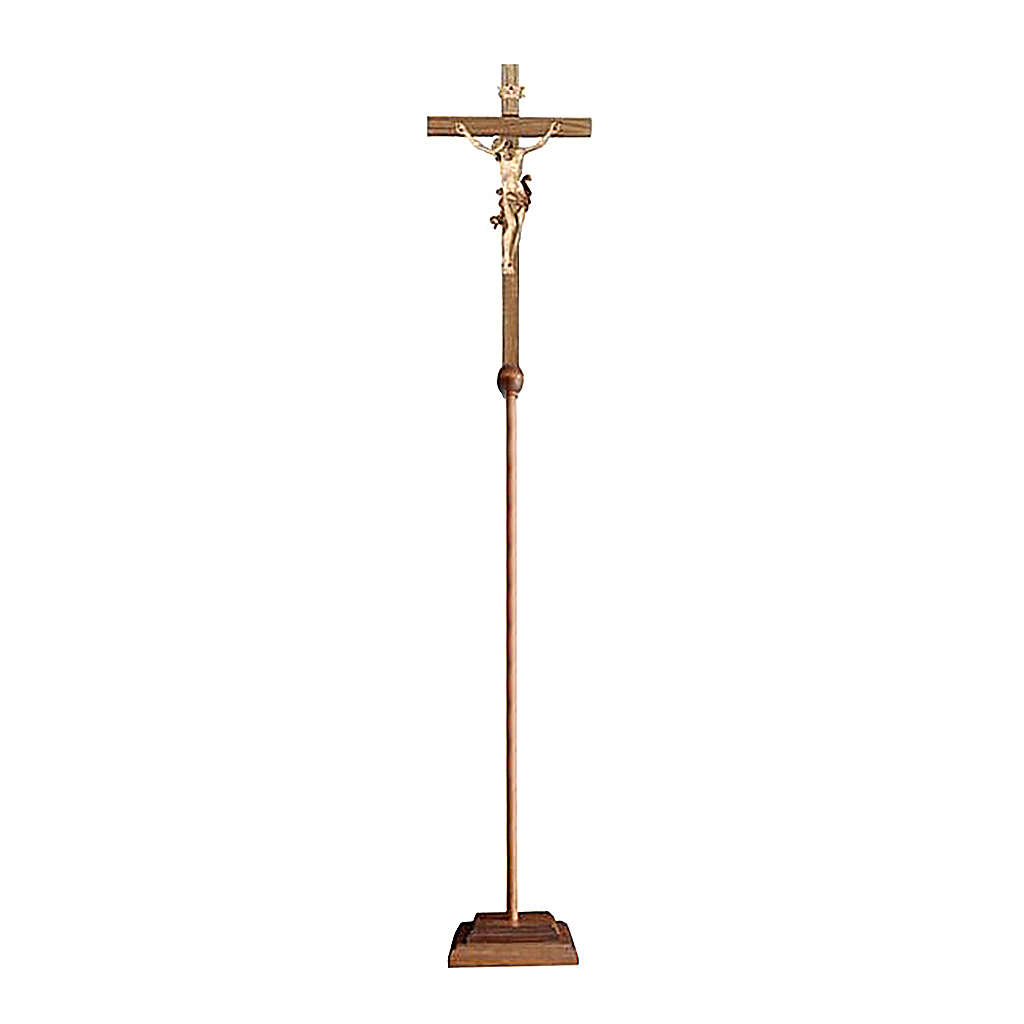 Croce astile processionale Leonardo brunito 3 colori 4