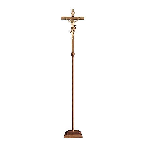 Croce astile processionale Leonardo brunito 3 colori 1
