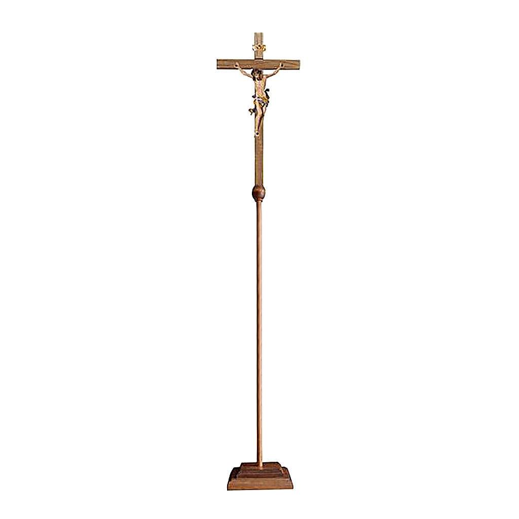 Croce astile processionale Leonardo colorato 4