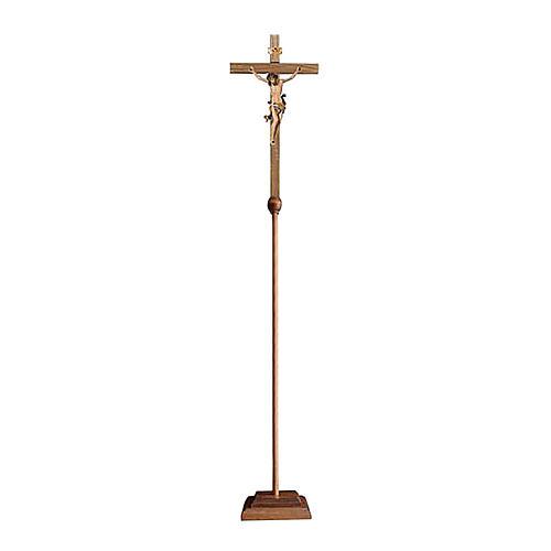 Croce astile processionale Leonardo colorato 1