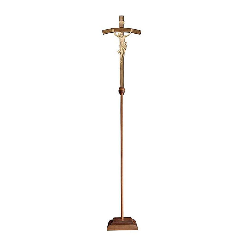 Croce astile Leonardo legno naturale croce curva 4
