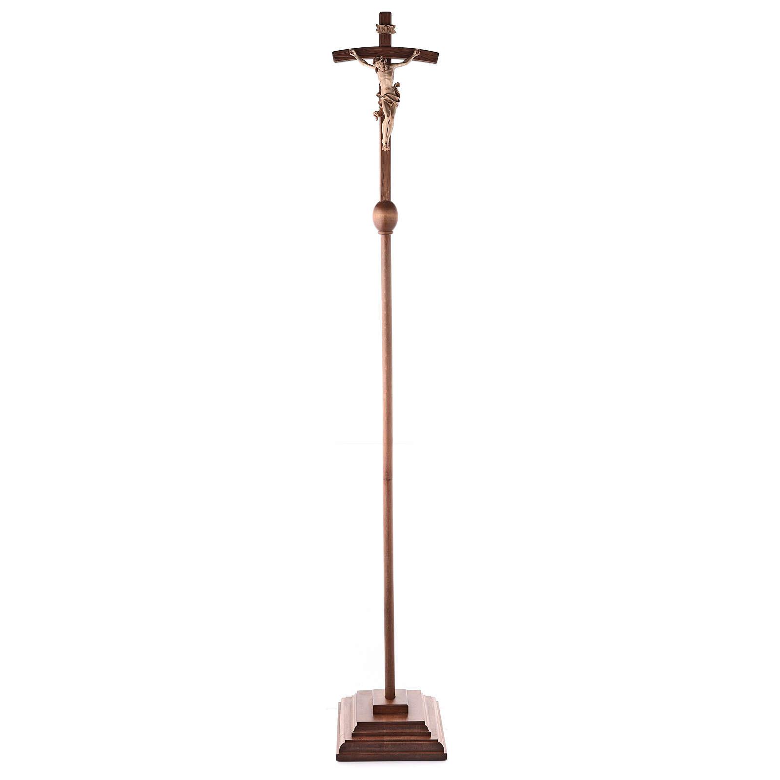 Cruz de procesión con base Leonardo cruz curva bruñido 3 colores 4