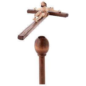 Cruz de procesión con base Leonardo cruz curva bruñido 3 colores s5
